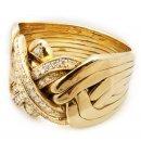 Pirunnyrkki: 18 K kulta 8-osainen timanteilla, heavy
