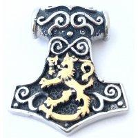 Leijonavasara 2 - Teräsriipus kullatulla leijonalla, pieni