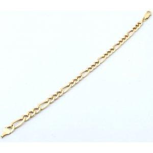 Kultainen figaroketju ranteeseen 6 mm