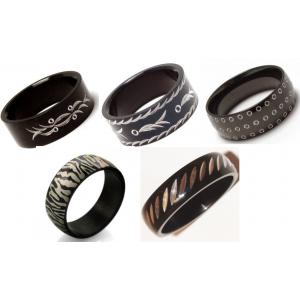 Black - Teräksinen sormussetti