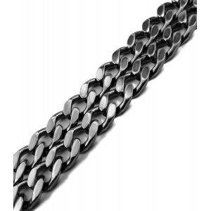 Rutenium Hopeinen panssariketju kaulaan 35-41 g / 50-55 cm / 6 mm
