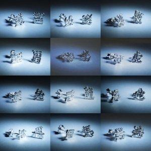 Kiinalaiset horoskooppi -korvakorut, hopeaa
