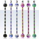 Industrial barbell [1,6 mm * 38 mm] - Kirurginteräs