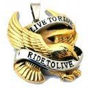Live to ride - Teräsriipus kullatulla kotkalla