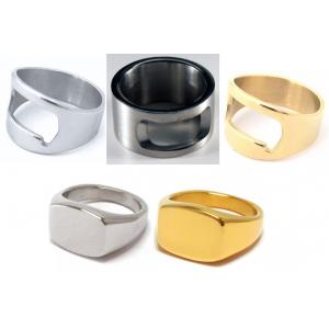 Steel & Gold - Teräksinen sormussetti